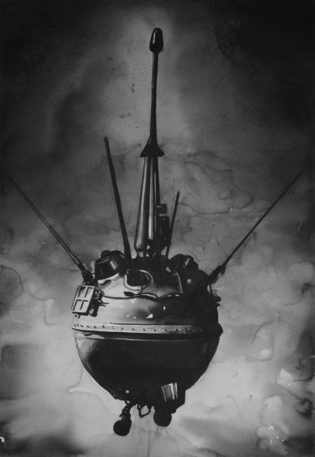 , 'The Soviet Union's Luna 2 spacecraft intentionally crashed into the moon on September 14, 1959, becoming the first manmade spacecraft to reach the moon,' 2017, Christine König Galerie