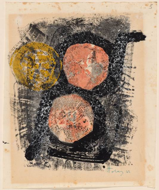 Mark Tobey, 'Untitled', 1962, Drawing, Collage or other Work on Paper, Decalcamany with tempera on thin wove paper, Koller Auctions