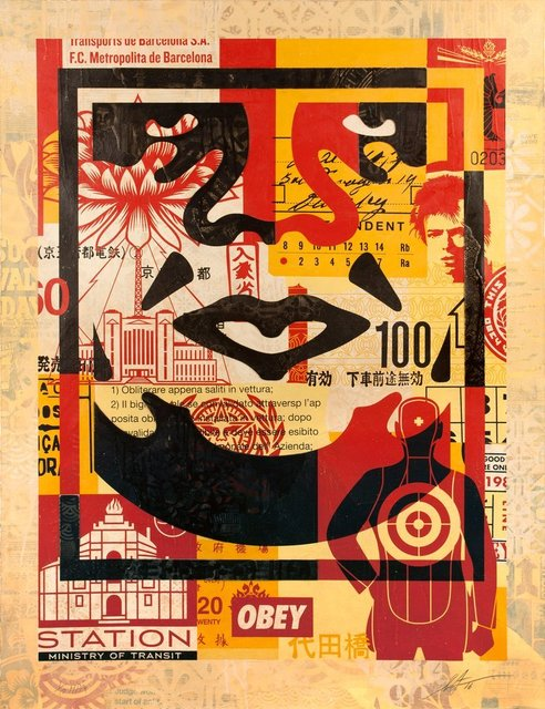 Shepard Fairey, 'Giant Collage', Gallery 211