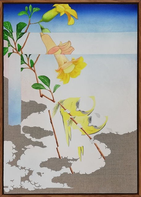 Lennart Rieder, 'Double Bird II (after Hiroshige) ', 2020, Painting, Oil on canvas, 532 Gallery Thomas Jaeckel