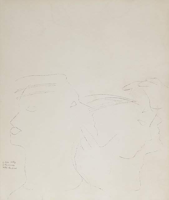 Andy Warhol, 'Dancers', ca. 1954, Drawing, Collage or other Work on Paper, Ink on paper (framed), Rago/Wright