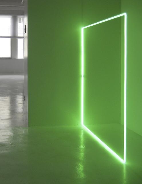 Stephen Antonakos, 'EGL Green Square on the Floor', 1973, Daniel Marzona