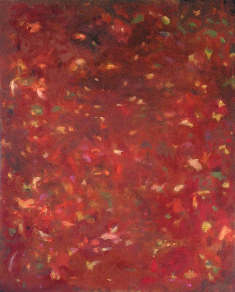 Falling Leaves in Red