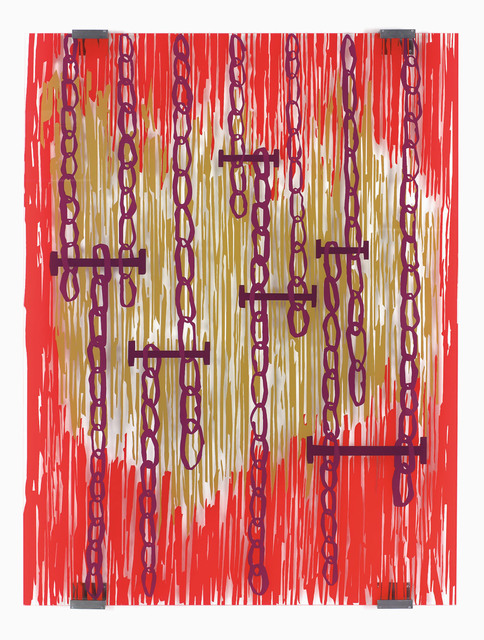 Jean-Marc Bustamante, 'Rouge et or  ', 2006, Xavier Hufkens
