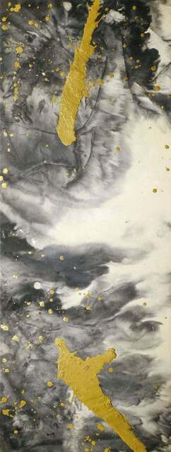 Darius MA, 'Wu Wei 21-07', 2021, Painting, Chinese ink, gold leaf on rice paper mounted on wood panel, Galerie Koo