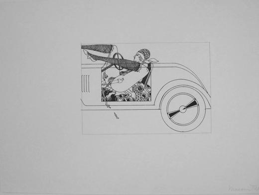 Masami Teraoka, 'Hollywood Stick Shift Woman', 1973, Catharine Clark Gallery
