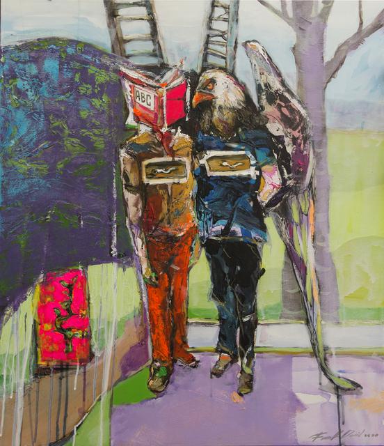 Frank David Valdés, 'El maestro /The Teacher', 2020, Painting, Mixed media on canvas, ArteMorfosis - Cuban Art Platform