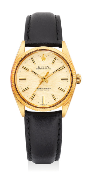 Rolex, 'A yellow gold automatic wristwatch with center second and textured dial', Circa 1973, Phillips