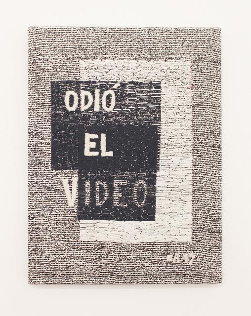 , 'Odió el video,' 2017, MARSO