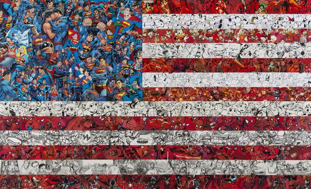 Mr Garcin, 'American Flag', 2018, Galerie Christiane Vallé