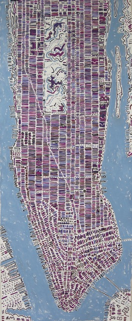 , 'Long Dark Purple Manhattan,' 2017, Rebecca Hossack Art Gallery