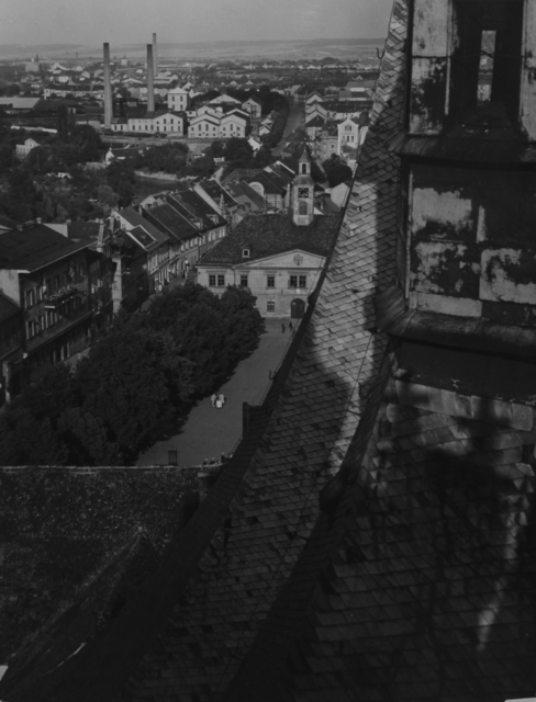 Jaromír Funke, 'Cathedral, Rooftops, Louny, Prague', ca. 1940, Photography, Vintage silver print, ClampArt