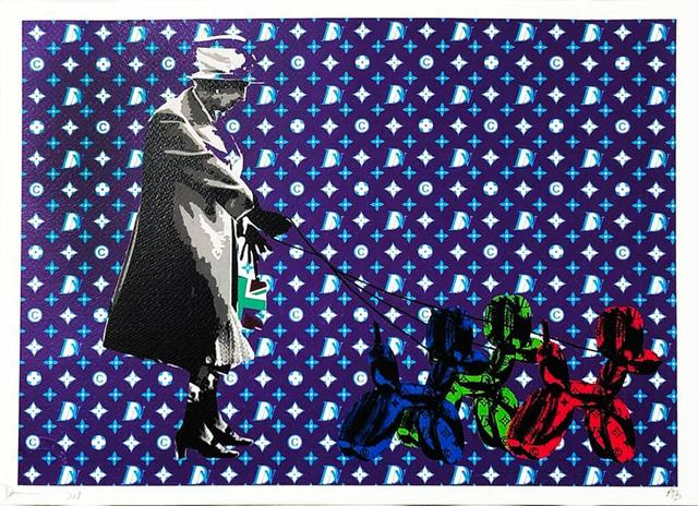 Death NYC, 'Queen Walking Koons', 2017, Print, Offset print on textured fine art watercolor paper, Samhart Gallery