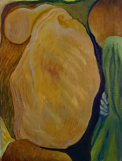 Robert Zurer, 'Broken', 2019, Painting, Oil on wood, InLiquid
