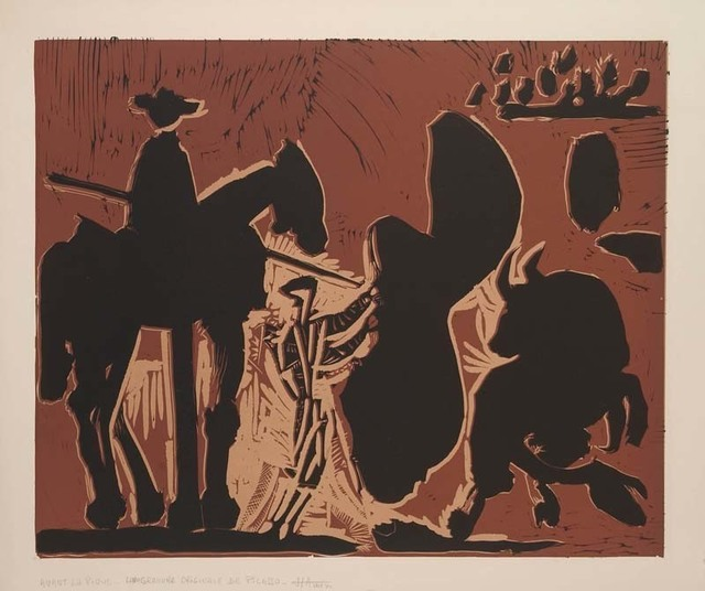Pablo Picasso, 'Avant la Pique', 1959, Print, Color Linocut on Arches Paper, Contessa Gallery