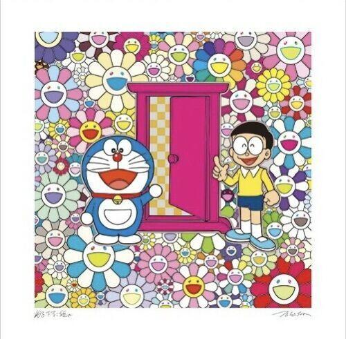 Takashi Murakami, 'DOKODEMO DOOR IN A FIELD OF FLOWERS ', 2018, Dope! Gallery