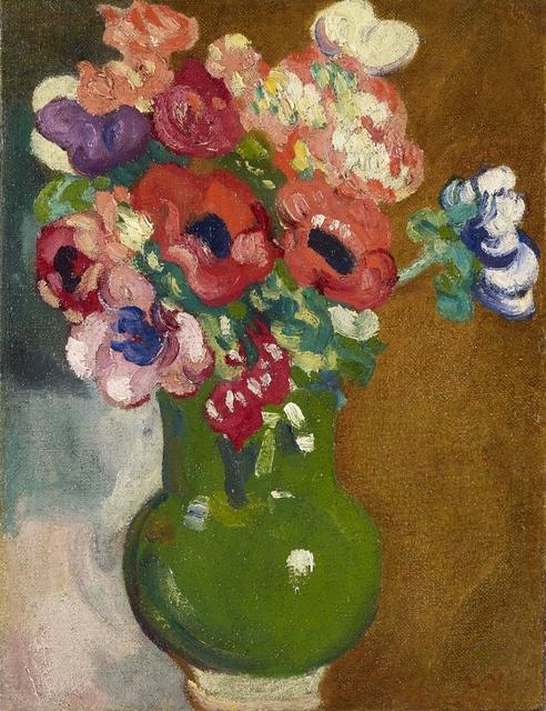 , 'Vase d'anémones,' 1913, Stoppenbach & Delestre