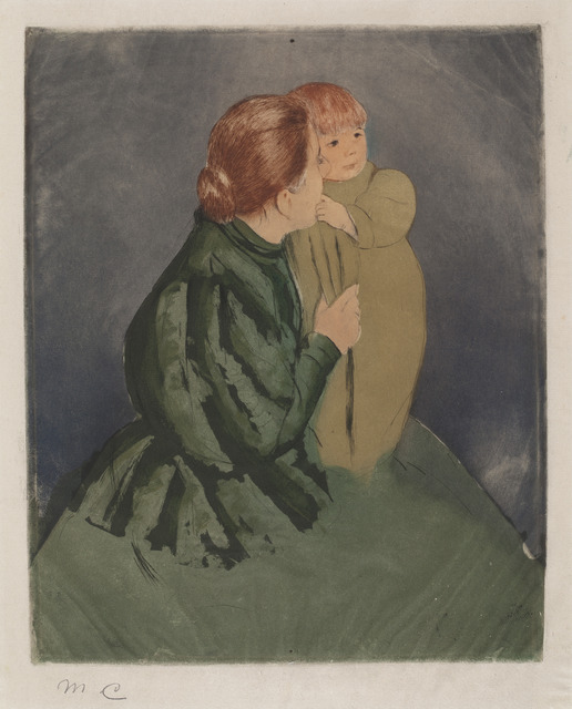 Mary Cassatt, 'Peasant Mother and Child', ca. 1894, National Gallery of Art, Washington, D.C.