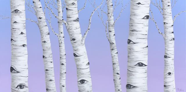 , 'Birch Spies,' 2018, Galatea Fine Art