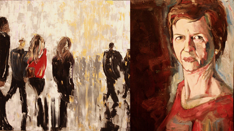What Is The City But The People? Artwork by Emilie Beadle (Left) and Dave Hardin (Right)