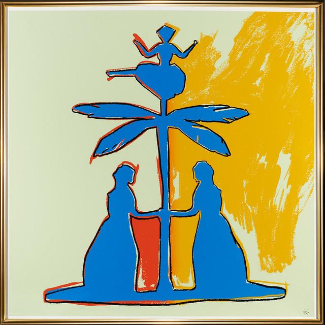 Andy Warhol, 'Two women around a tree', 1987, Print, Silkscreen, Galleri5000