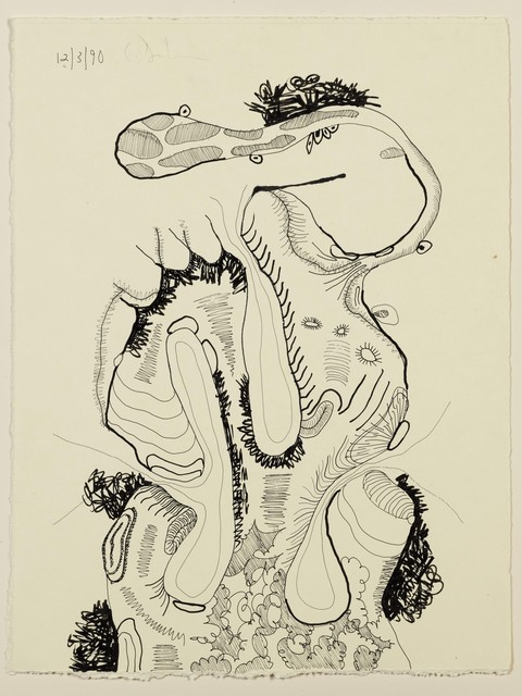 Carroll Dunham, 'Untitled (12.3.90)', 1990, Drawing, Collage or other Work on Paper, Ink on paper, James Barron Art
