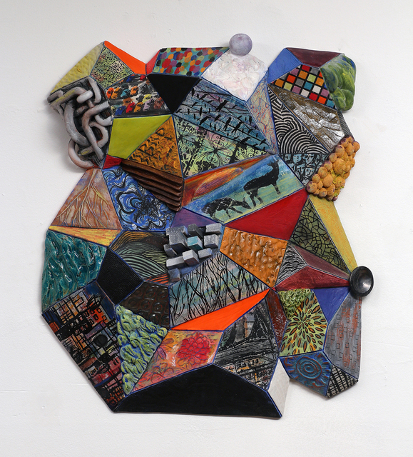 , 'Patternscape: City Facets,' 2016, Clay Mix