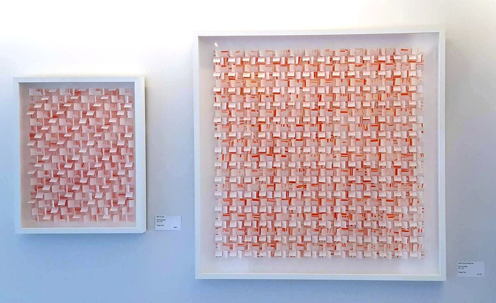 """""""Red Currents"""" and """"White Over Orange Pop"""", Gregg Welz"""