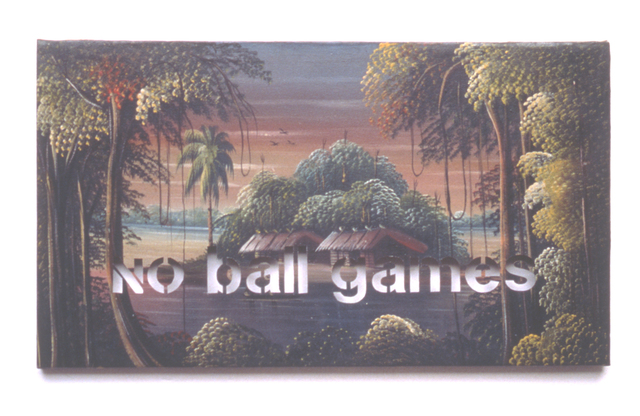 , 'Armchair Painting - Untitled (no ball games),' 1990, Federico Luger (FL GALLERY)