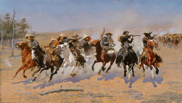 , 'A Dash for the Timber,' 1889, Denver Art Museum