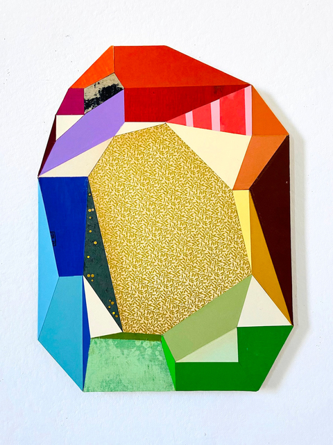 Conny Goelz Schmitt, 'Jumpstarter', 2021, Mixed Media, Vintage book paper collage, Bernay Fine Art