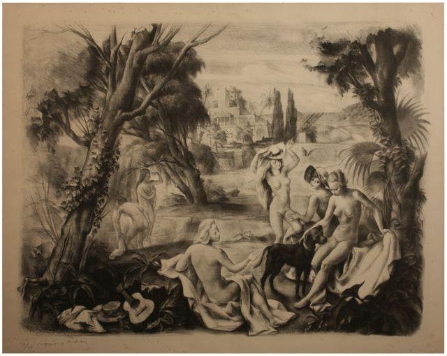 , ' Baigneuses en Provence,' 1934, Artur Ramon Art