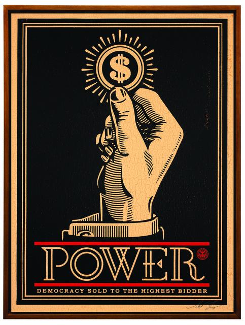 Shepard Fairey (OBEY), 'Power Bidder', 2015, Underdogs Gallery