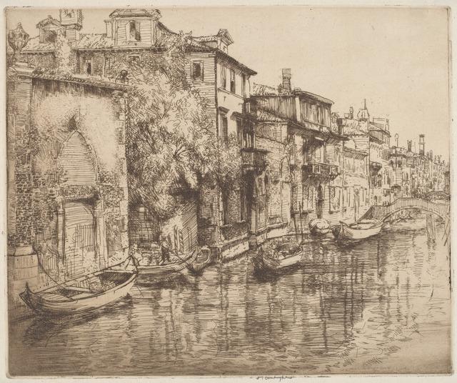 Donald Shaw MacLaughlan, 'Venetian Noontide', probably 1916, Print, Etching, National Gallery of Art, Washington, D.C.