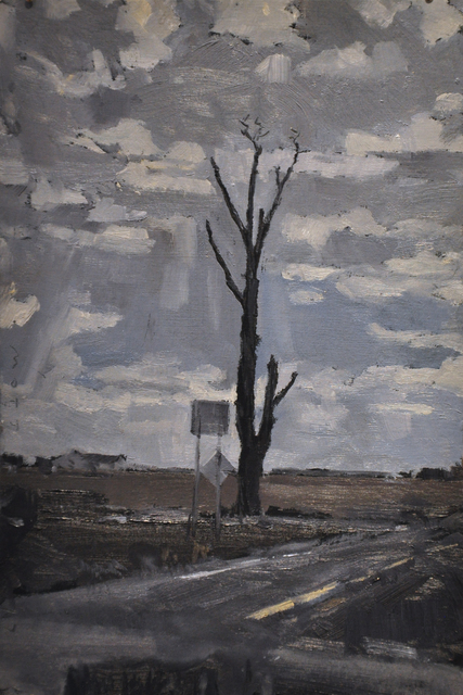 , 'Tree at the Highway 61 Crossroads,' 2017, Main Street Arts