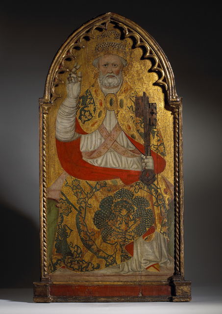 , 'Saint Peter Enthroned ,' Mid 15th century, Tomasso Brothers