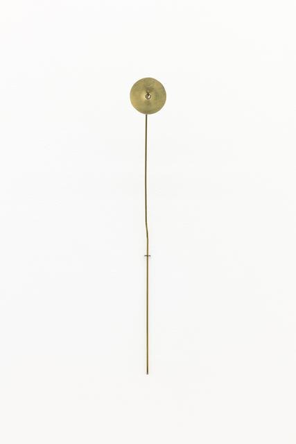 , 'Untitled (flower 4, brass circle),' 2017, MKG127