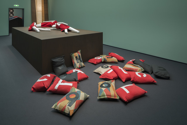 Kelly Nipper, 'Alphabet Sandbags (a cloCk GLuUEed TO tAble)', 2013, Hammer Museum
