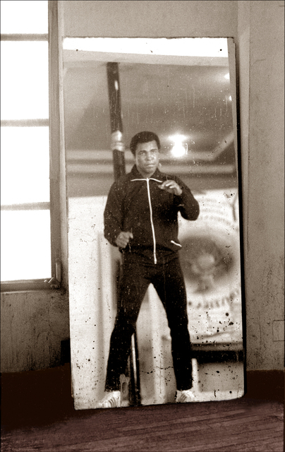 , 'Muhammad Ali Mirror Boxing in Gym  ,' ca. 1977, Richard Beavers Gallery