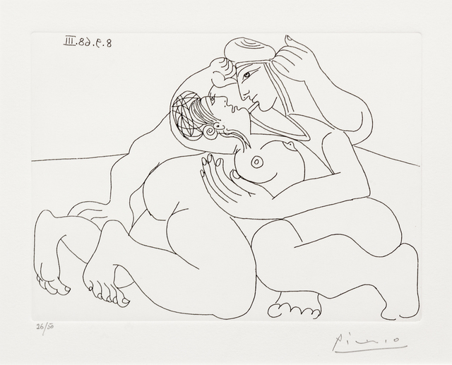 Pablo Picasso, 'Rapheal et fornarina XXIII, from 347 Series', 1968, Print, Etching, Hindman