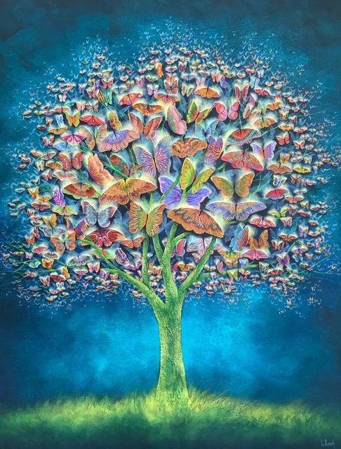 Laura Reich, 'Butterfly Tree ', 2020, Painting, Acrylic on canvas, Peimbert Art