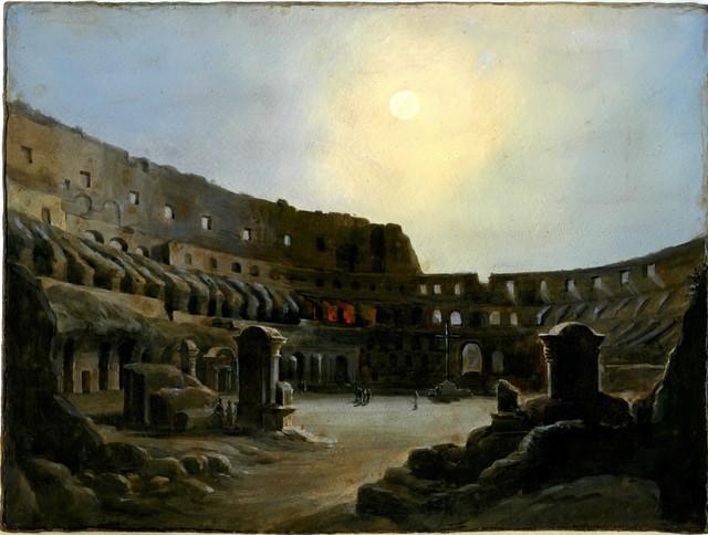 , 'Inner Colosseum in the moonlight,' 1860, A. Pallesi Art Gallery