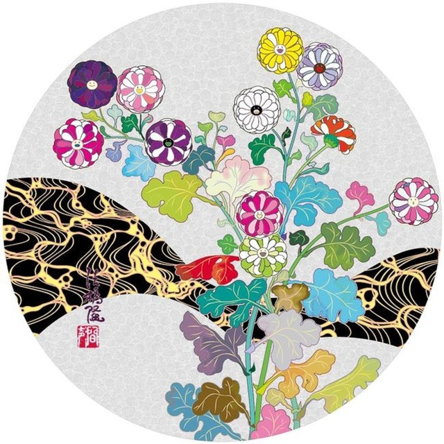 Takashi Murakami, 'Korin: Flowers', 2016, Print, Offset lithograph in colours on wove paper, Lougher Contemporary