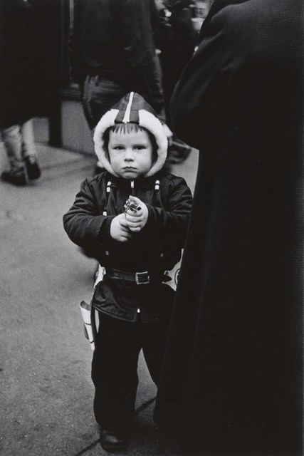 , 'Kid in a hooded jacket aiming a gun, N.Y.C.,' 1957, San Francisco Museum of Modern Art (SFMOMA)