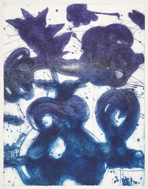 , 'Bouquet (sweet pea, blue, grey, violet),' 2019, Manneken Press