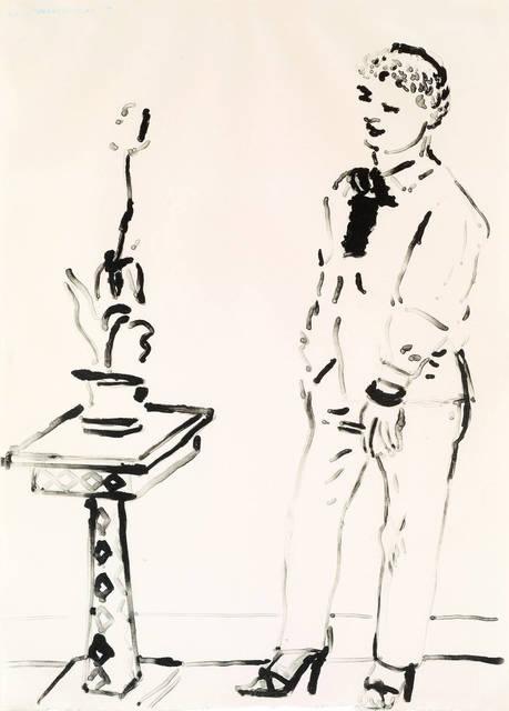 David Hockney, 'Celia Musing', 1979, Print, Lithograph, Hamilton-Selway Fine Art
