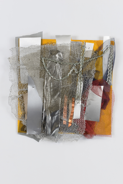 , 'Silver on Yellow,' 2012, Walter Wickiser Gallery