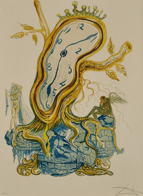 Salvador Dalí, 'Stillness Of Time', Print, Colour photolithograph of an original gouache on Arches France watermarked paper, Waddington's