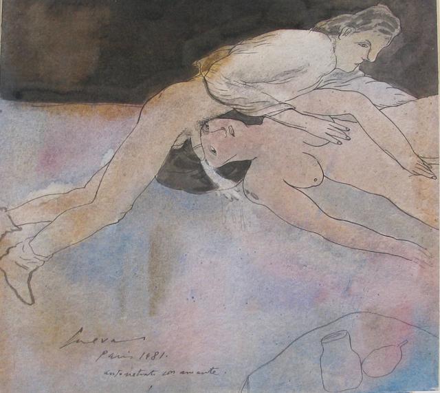 , 'Autortetrato con amante, París.,' 1981, Oscar Roman