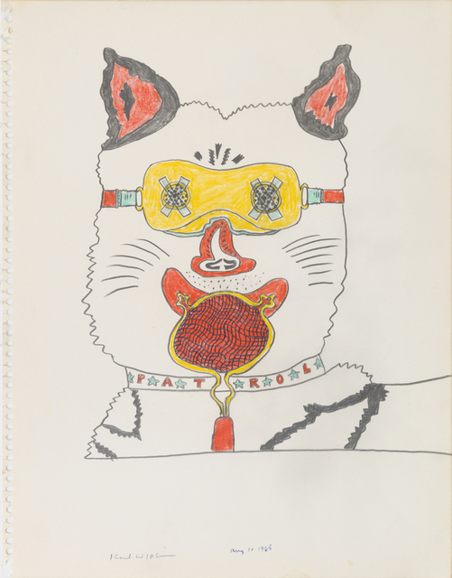 , 'Untitled (Study for No Dogs Aloud - Howlin' Wuff),' 1965, Derek Eller Gallery
